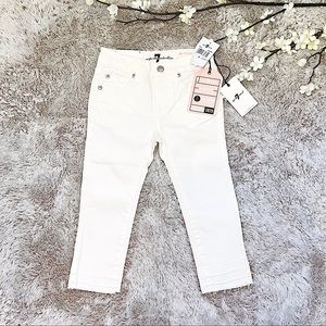 7 for all mankind toddler White jeans